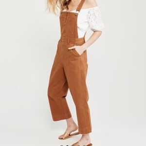 Abercrombie camel Brown utility overalls M NWT
